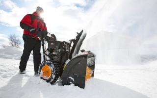 Снегоуборщик Huter SGC 4000: устройство, технические характеристики, фото и видео