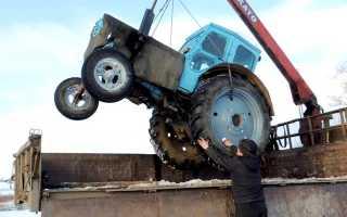 На чем перевезти трактор: ДТ-75, МТЗ-1221, 82, ЮМЗ, самодельный, транспортировка, буксировка, цена