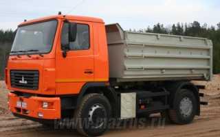 Самосвал МАЗ-5550: 5550В2, 5550В3, технические характеристики, модификации, цена, аналоги