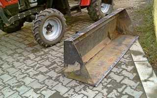 Самодельный ковш на заднюю навеску трактора: минитрактора, своими руками, для земляных работ, чертеж