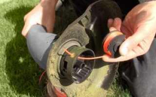 Как намотать леску на катушку триммера: заправить, какая лучше, поменять