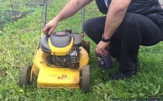 Масло для газонокосилки: с 4-тактным двигателем, какое заливать, бензин, замена