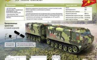 Вездеход Витязь ДТ-30П: технические характеристики, расход топлива