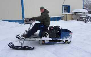 Снегоход своими руками: как сделать, самодельные, на гусеницах, из мотоцикла