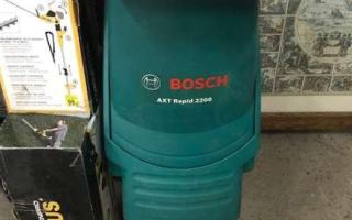Bosch AXT Rapid 2200 – комплектация и характеристики измельчителя
