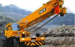 Кран Като (Kato) (автокран, автомобильный): 50 тонн, 25, 70, 10, КА-900, технические характеристики, цена