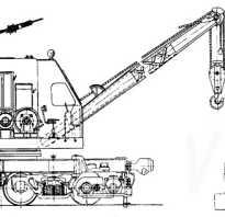 ЖД кран КДЭ-163: 253, 251, 161 технические характеристики, модели