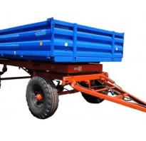 Телега (прицеп) для трактора — устройство, виды, своими руками