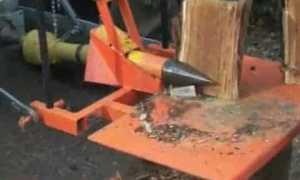 Дровокол на трактор — чертежи, изготовление своими руками, видео