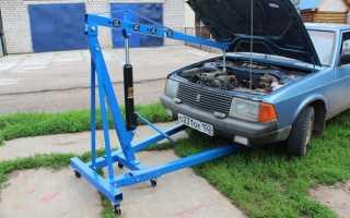 Кран гидравлический: гаражный, складной, ручной, 1т, для снятия двигателя, цена, отзывы