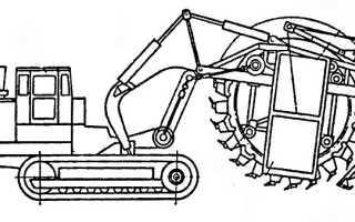 Роторный экскаватор: ЭТР-254, ЭРШРД-5000, ЭР-1250, Bagger 293, работа, технические характеристики, размеры, схема, многоковшовый